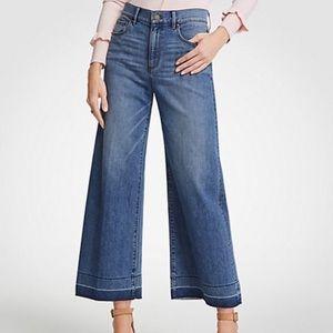 Ann Taylor Wide Leg Released Hem Culottes Jeans